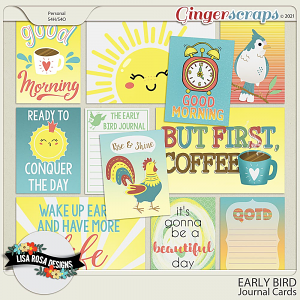 Early Bird - Journal Cards by Lisa Rosa Designs