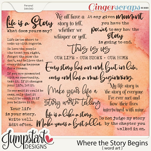 Where the Story Begins {Word Art}
