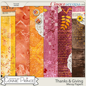 Thanks & Giving - Messy Papers by Connie Prince