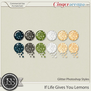 If Life Gives You Lemons Glitter Photoshop Styles