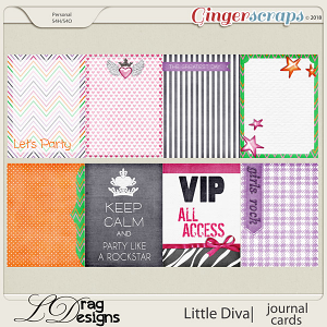 Little Diva: Journal Cards by LDragDesigns