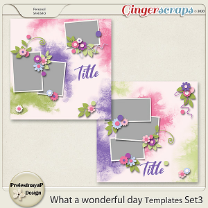 What a Wonderful day Templates Set3
