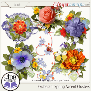 Exuberant Spring Accent Clusters by ADB Designs