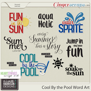 Cool By the Pool Word Art by Aimee Harrison and HSA