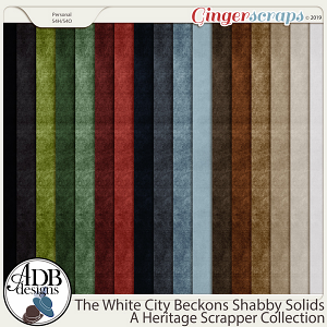 The White City Beckons Shabby Solids by ADB Designs