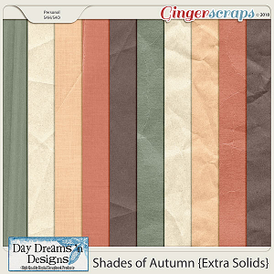 Shades of Autumn {Creased & Crumpled Solids} by Day Dreams 'n Designs
