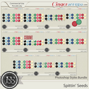 Spittin Seeds CU Photoshop Styles Bundle