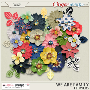 We Are Family - Flowers - by Neia Scraps