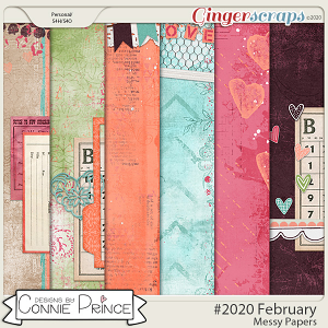 #2020 February - Messy Papers by Connie Prince