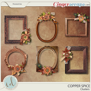 Copper Spice Clusters by Ilonka's Designs