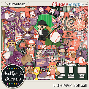 Little MVP: Softball KIT by Heather Z Scraps