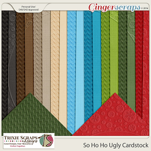 So Ho Ho Ugly Cardstock by Trixie Scraps Designs