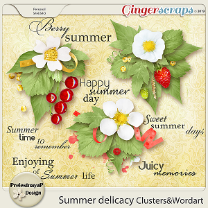 Summer delicacy Clusters&Wordart