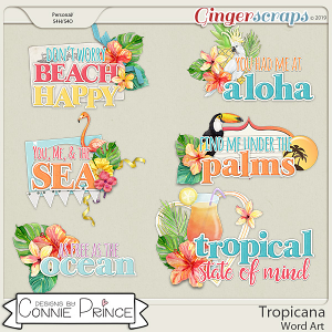 Tropicana - Word Art Pack by Connie Prince