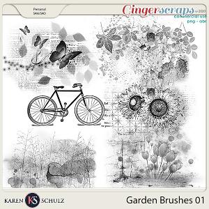 Garden Brushes 01 by Karen Schulz