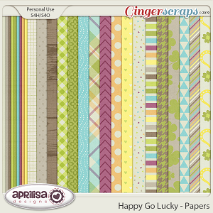 Happy Go Lucky - Papers by Aprilisa Designs