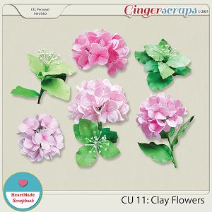 CU 11 - Clay flowers