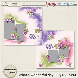 What a Wonderful day Templates Set4