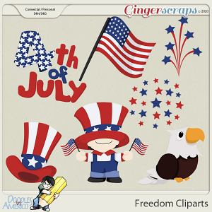 Doodles By Americo: Freedom Cliparts