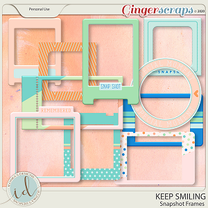 Keep Smiling Snapshot Frames by Ilonka's Designs