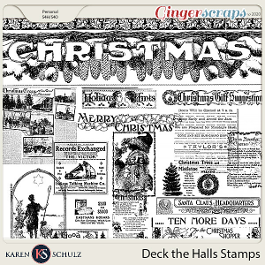 Deck the Halls Stamps by Karen Schulz