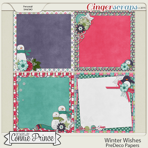 Winter Wishes - PreDeco Papers