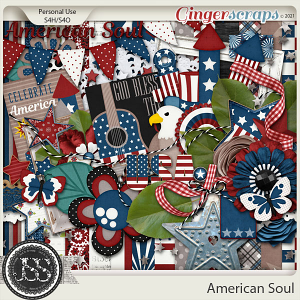 American Soul Digital Scrapbook Kit
