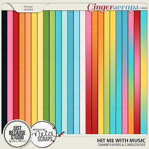 Hit Me With Music Ombré Papers & Cardstocls by JB Studio and Neia Scraps