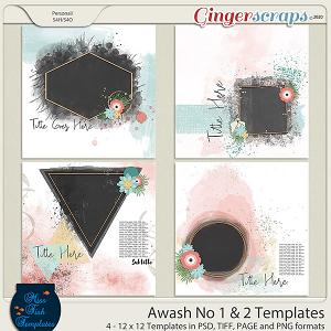 Awash No 1 and No 2 Templates by Miss Fish