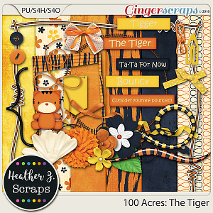 100 Acres THE TIGER MINI KIT by Heather Z Scraps