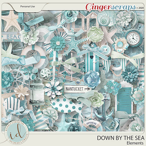 Down By The Sea Elements by Ilonka's Designs