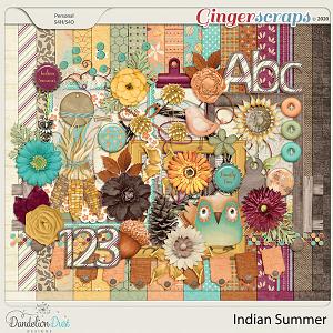 Indian Summer Digital Scrapbook Kit by Dandelion Dust Designs