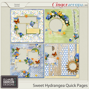 Sweet Hydrangea Quickpages by Aimee Harrison