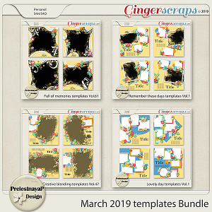 March 2019 Templates Bundle