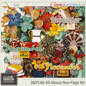 360°Life All About November Page Kit by Aimee Harrison