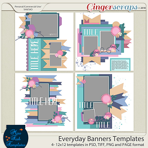 Everyday Banner Templates by Miss Fish