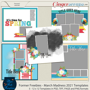 Former Freebies - March Madness 2021 Templates by Miss Fish