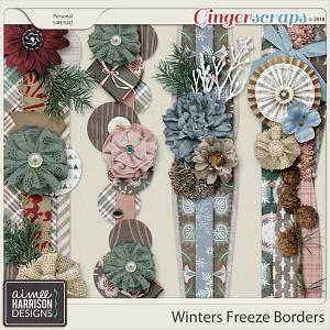 Winters Freeze Borders by Aimee Harrison