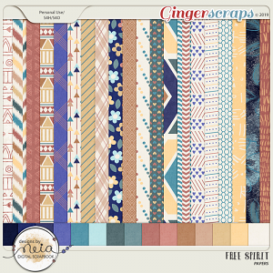Free Spirit - Papers - by Neia Scraps