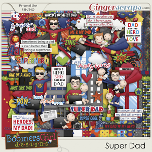 Super Dad by BoomersGirl Designs