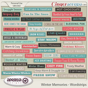 Winter Memories - Wordstrips by Aprilisa Designs