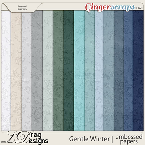 Gentle Winter: Embossed Papers by LDragDesigns