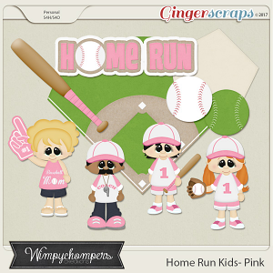 Home Run Kids- Light Pink