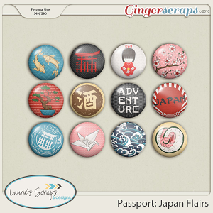 Passport: Japan Flairs