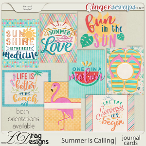 Summer Is Calling: Journal Cards by LDragDesigns