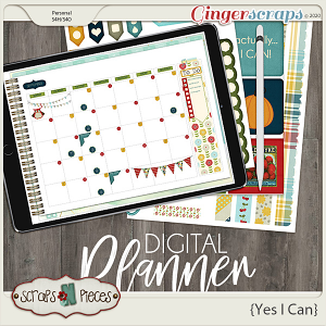 Yes I Can Planner Pieces - Scraps N Pieces
