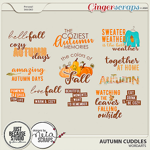 Autumn Cuddles Wordarts by JB Studio and Neia Scraps