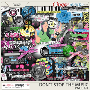 Don't Stop the Music - Page Kit - by Neia Scraps