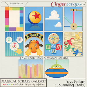 Toys Galore (journaling cards)