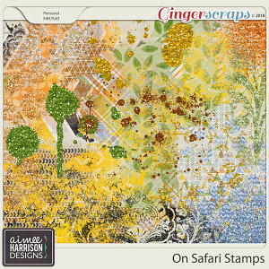On Safari Stamps by Aimee Harrison